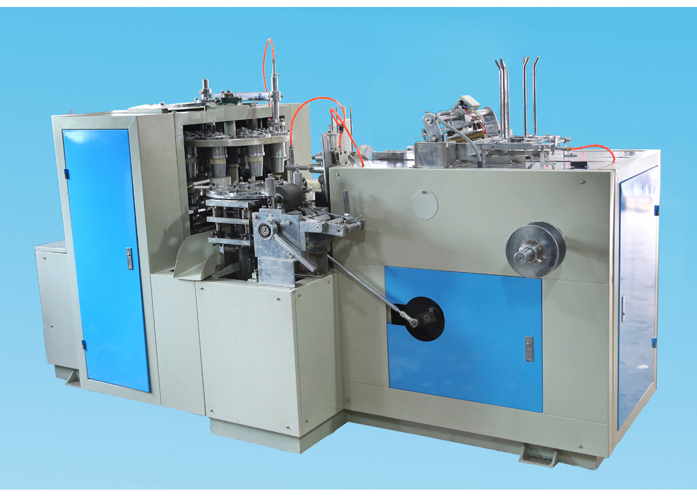 125 Gear Box Automatic Disposable Paper Cups Making Machine High Efficiency