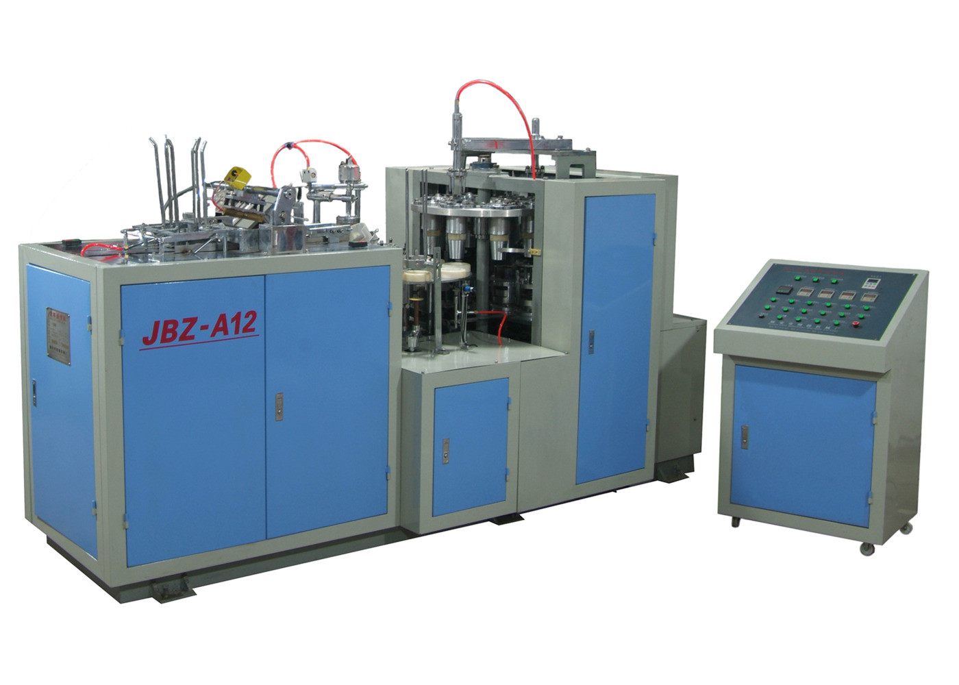 Printed Cutting Automatic Paper Cup Machine , Disposable Paper Cup Making Machine