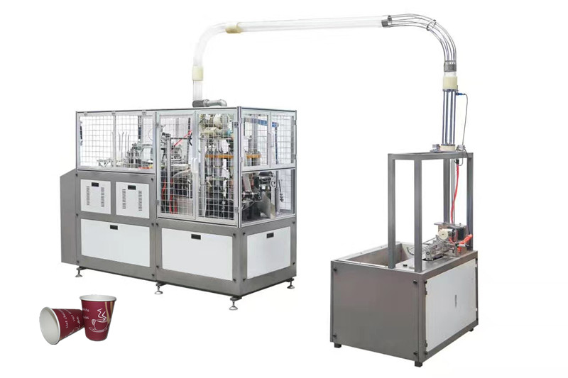 Double / Single Coated Paper Tea Cup Making Machine , Paper Tea Cup Machine